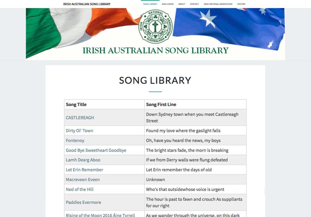 Irish-Australian-Song-Library